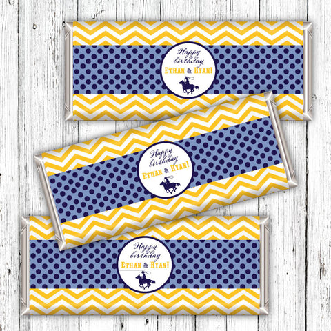 Chevron Cowboys Candybar Wrappers