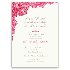 Classic Floral Trimmed Party Invitation