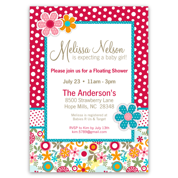 Cotton Tale Lizzie Baby Shower Invitations