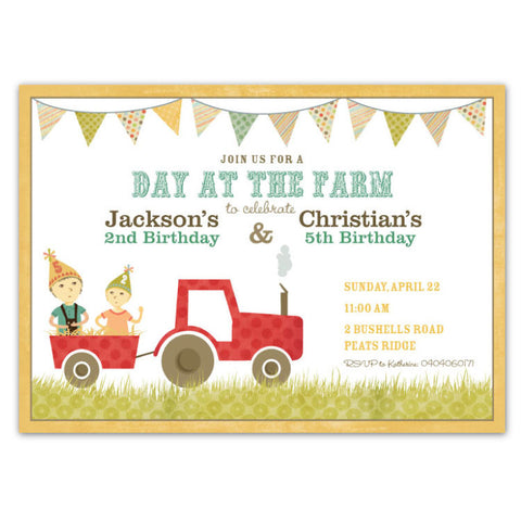 Country Farm Party Invitations (A)