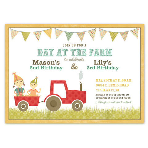 Country Farm Party Invitations (B)