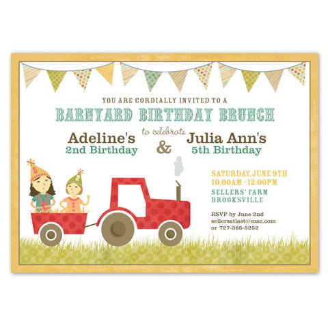 Country Farm Party Invitations (C)