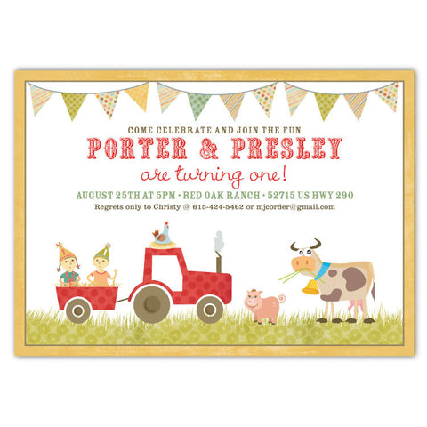Country Farm Party Invitations (D)