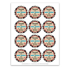 Cowboy Ranch Party Favor Tags