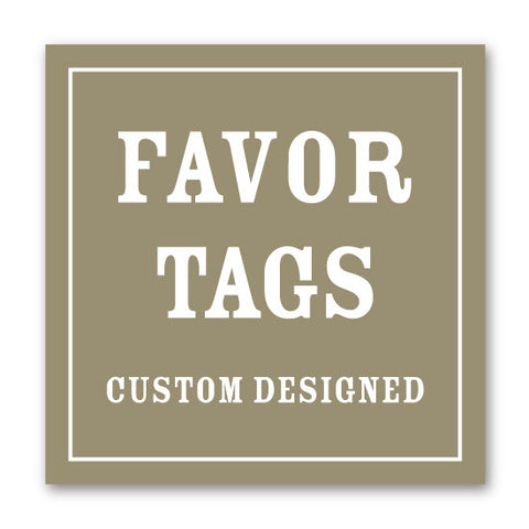 Coordinating Favor Tags