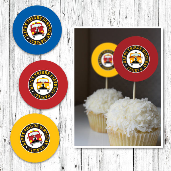Firehouse Cupcake Toppers