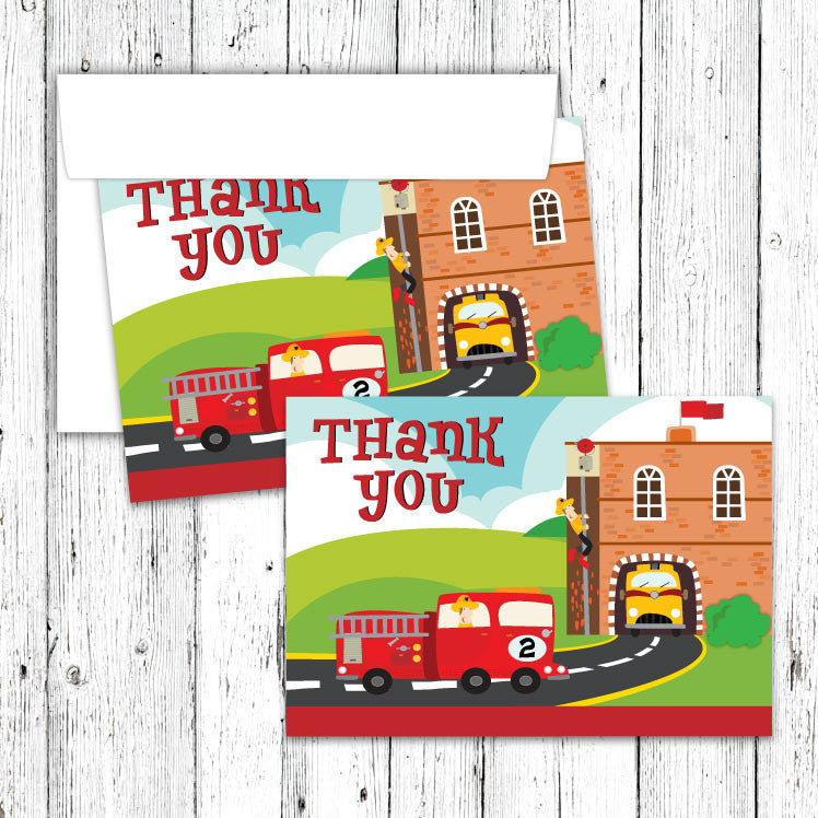 Firehouse Thank You Notecards