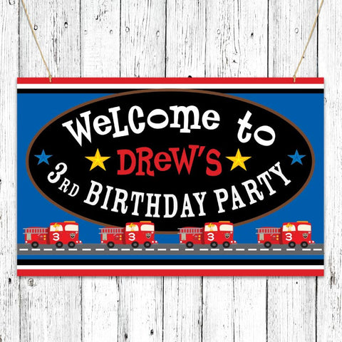 Firehouse Party Welcome Sign