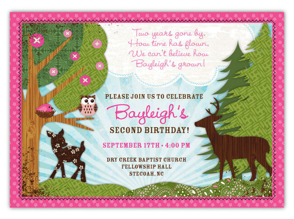 Forest Owls Invitations (B)