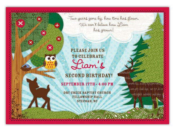 Forest Owls Invitations (A)
