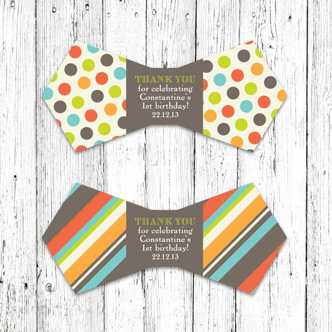 Gentlemans Party Bow Tie Party Favor Tags