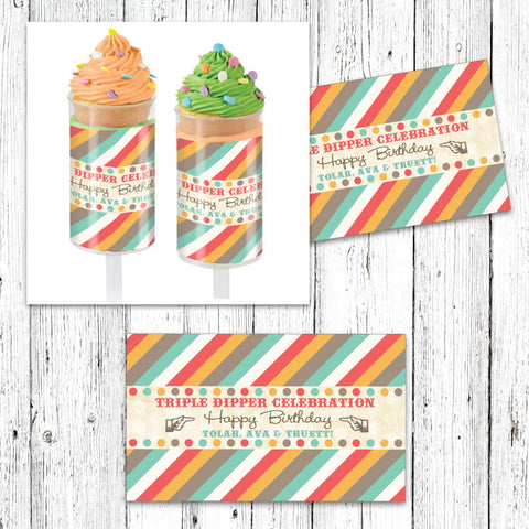 Ice Cream Parlor Pushup Pop Wraps