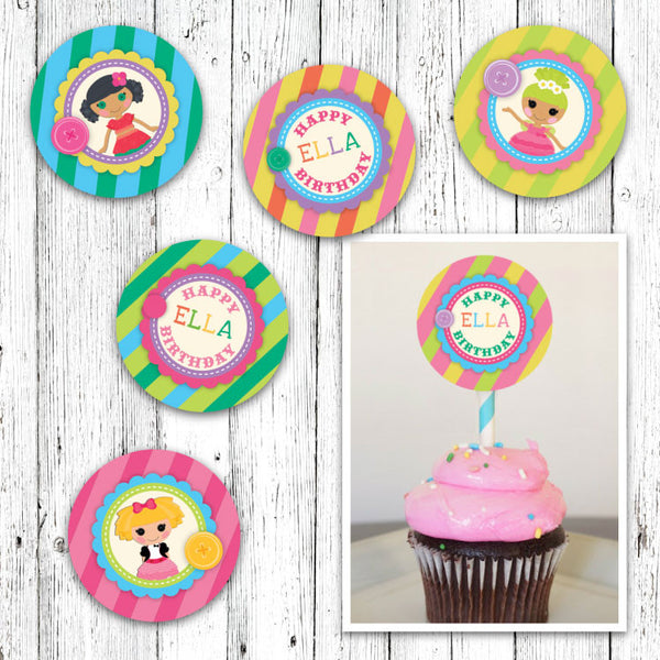 La La Loopsy Inspired Cupcake Toppers