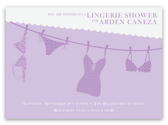 Lingerie Clothesline Shower Invitations
