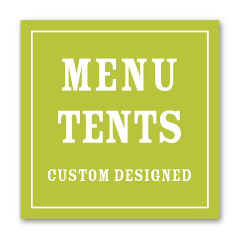 Coordinating Menu Tents