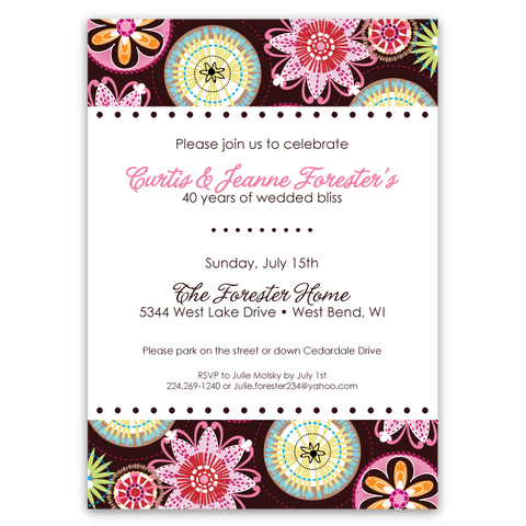 Carnival Bloom Party Invitations