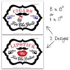 Mustache Bash Shaped Party Signs (B)