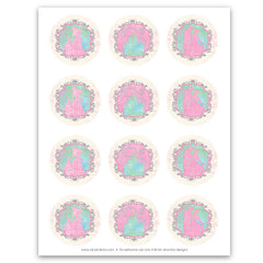 Pastel Princess Castle Party Circles