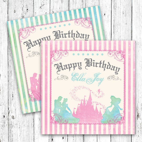 Pastel Princess Castle Party Signs