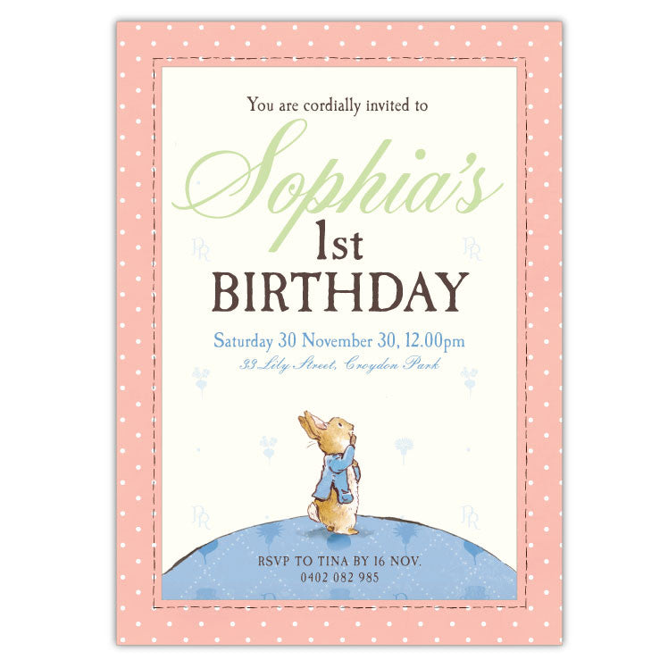 Peter rabbit birthday invitations b ian lola design boutique peter rabbit birthday invitations b filmwisefo