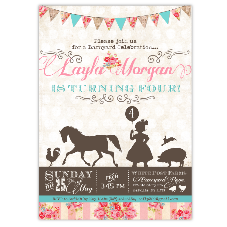 pretty petting zoo birthday invitations – ian & lola design boutique, Birthday invitations