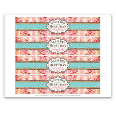 Pretty Petting Zoo Printable Bottle Labels