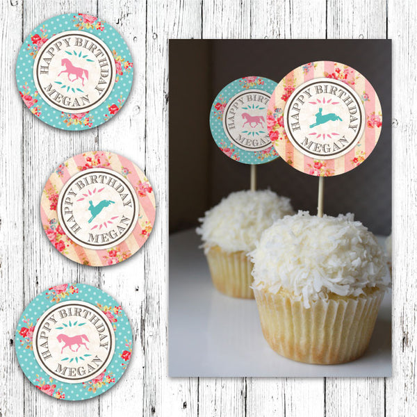 Pretty Petting Zoo Cupcake Toppers