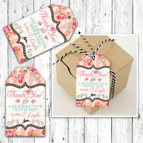 Pretty Petting Zoo Party Favor Luggage Tags