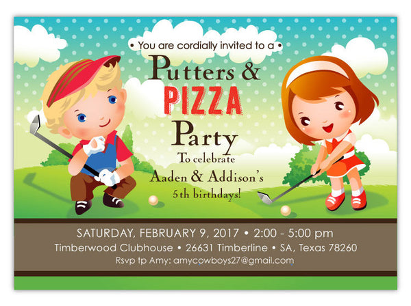 Princess & Pizza Invitations