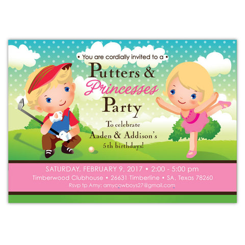 Princess & Putters Invitations