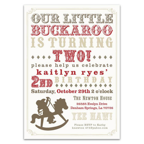 Rocking Horse Cowboy Invitations (D)