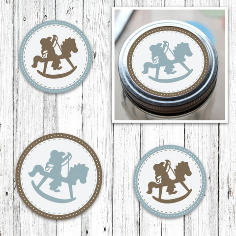 Rocking Horse Cowboy Party Circles