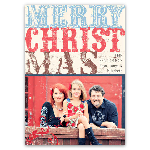 Rustic, Vintage Type: Merry Christmas