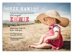 Rustic Cowboy Invitations (A)