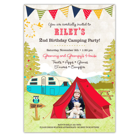 Boys Campout Invitations (B)
