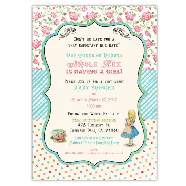 Shabby Chic Wonderland Invitations