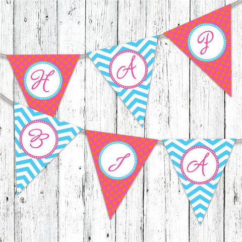 Sophisticated Peacocks Pennant Party Banner