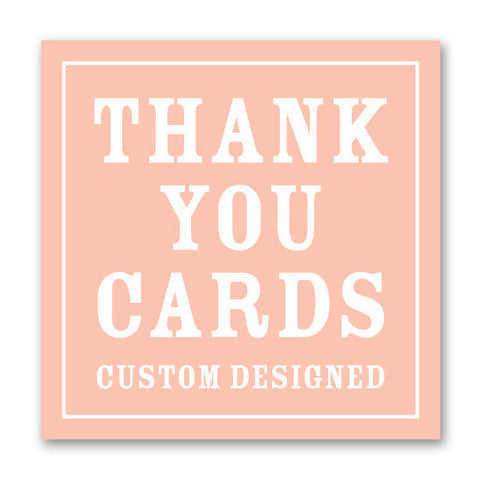 Custom Coordinating Thank You Notes
