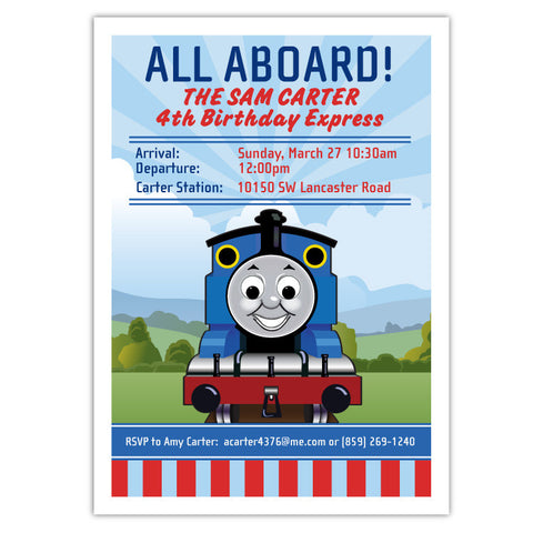 Thomas Birthday Invitation
