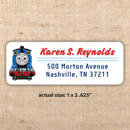 Thomas the Tank Engine Address Label