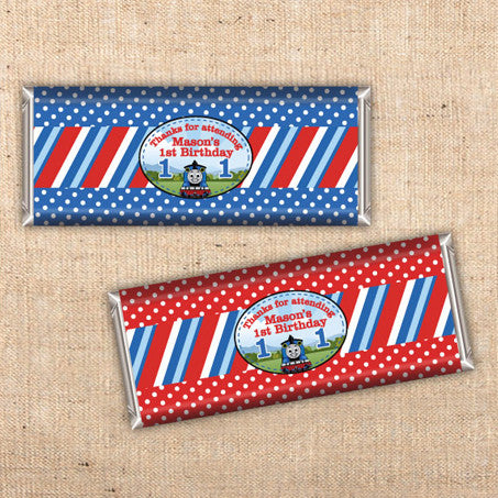 Thomas the Tank Engine Candy Bar Wraps