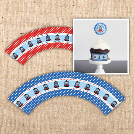 Thomas the Tank Engine Cupcake Wraps