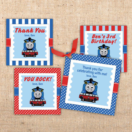 Thomas the Tank Engine Party Favor Tags