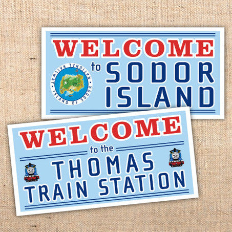 Thomas the Tank Engine Party Banners