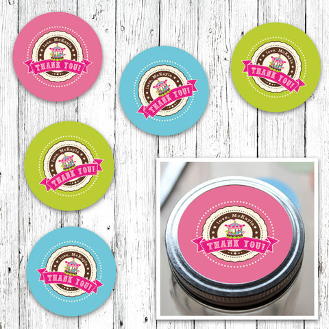 Vintage Carnival Circus Jar Labels in Candy Colors