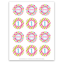 Vintage Carnival Circus Party Circles in Candy Colors