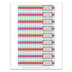 Vintage Carnival Circus Wrap-Around Address Labels in Candy Colors