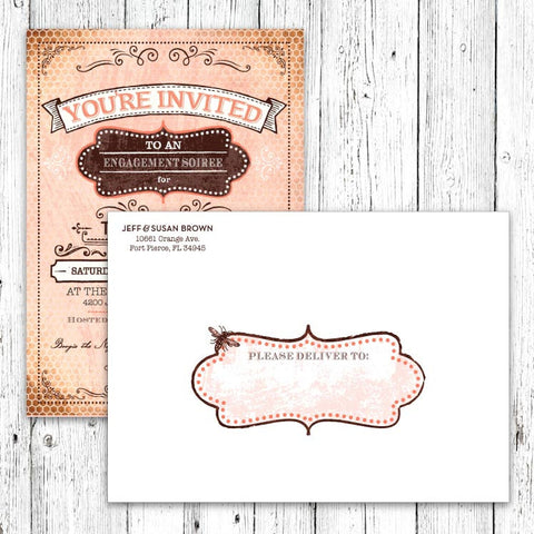 Vintage Honeybee Printable Blank Mailing Address Labels