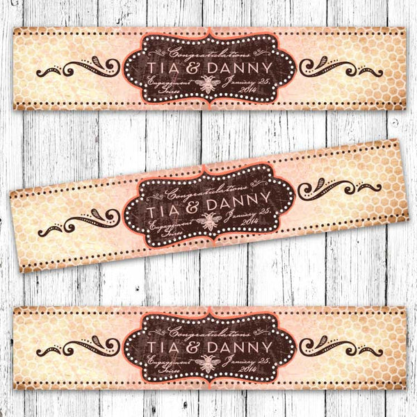 Vintage Honeybee Printable Bottle Labels