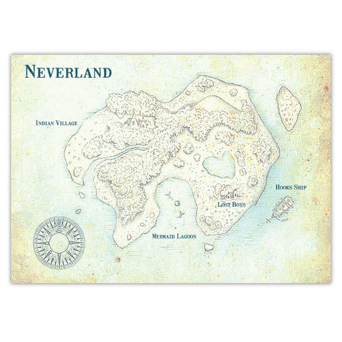 Vintage Neverland Invitation Backing